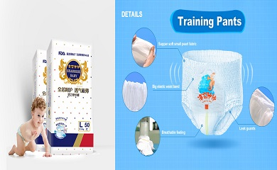 Why is airthrough non-woven fabric used for diaper surface layer?
